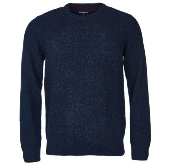 BARBOUR PULL COL ROND NAVY