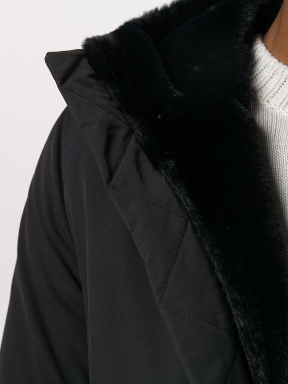 Manteau court à capuche Bleu marine - Herno