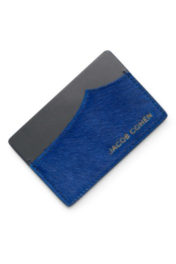 porte cartes bleu poney jacob cohen