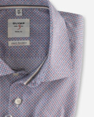 OLYMP LEVEL FIVE SMART BUSINESS BODY FIT BLEU & ROUGE