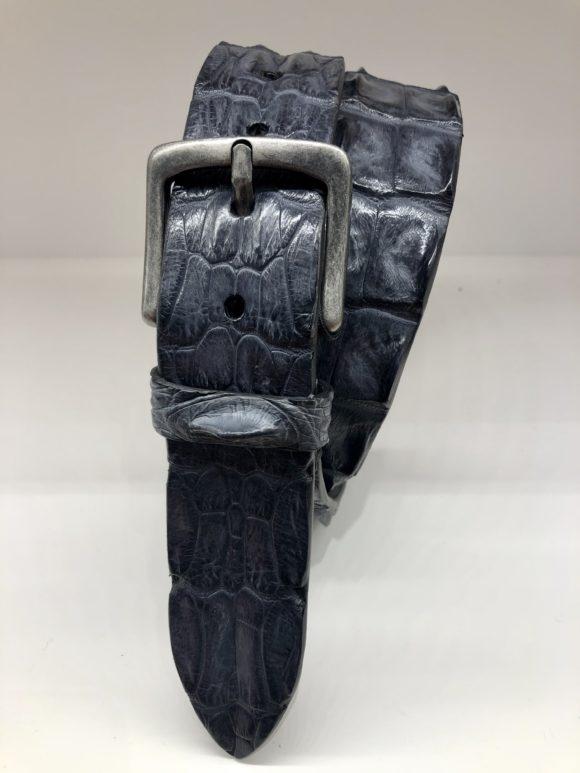 ceinture croco bleu