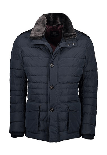 SCHNEIDERS PARKA MATELASSE COL FOURRURE AMOVIBLE NAVY