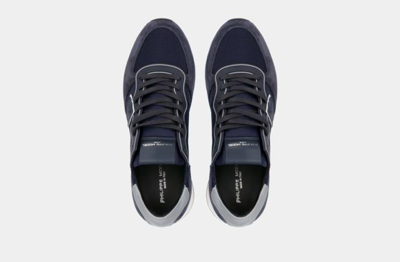 baskets bleu homme philippe model