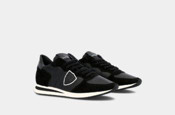baskets noires philippe model