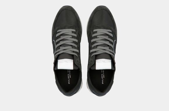 baskets philippe model charbon gris keitel