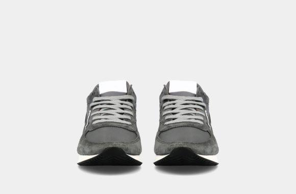 baskets philippe model daim gris