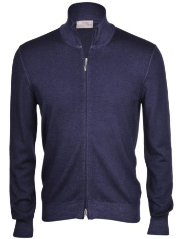 cardigan zip bleu marine
