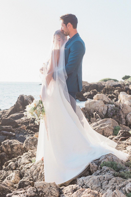 Costume de marie bleu charette
