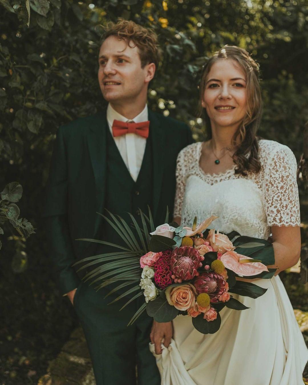 Costume trois pieces vert mariage